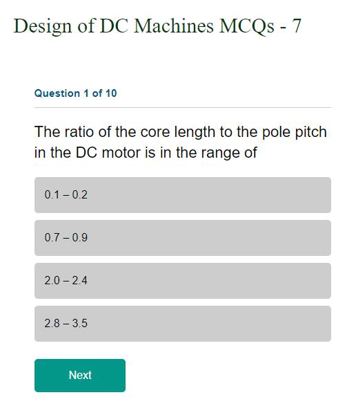 Mcqs On Design Of Dc Machines Transmission Line Design Machine