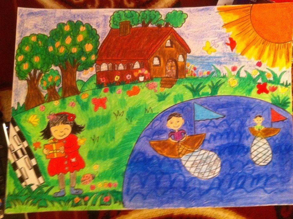 لوحة محادثة عن حرف الشين تبدا المعلمة بعرض اللوحة وسؤال الاطفال عما يوجد في اللوحة ويبدا الحوار والمناقشة Painting Art