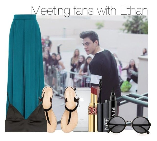"""Meeting fans with Ethan"" by swaggxdirection ❤ liked on Polyvore featuring Dolan, Roksanda Ilincic, Yves Saint Laurent, T By Alexander Wang, NARS Cosmetics and Ardency Inn"