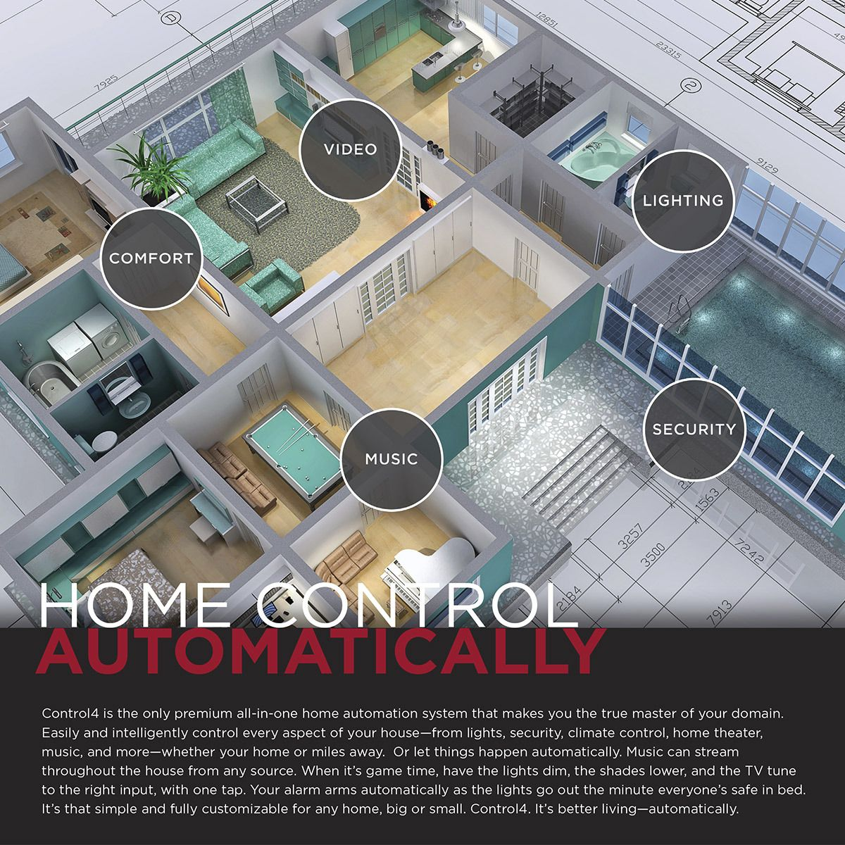 Control4 Smart Home Diagram Electrical Wiring Thermostat With Homeautomation Technology You Can Control Every Rh Pinterest Com 10 X