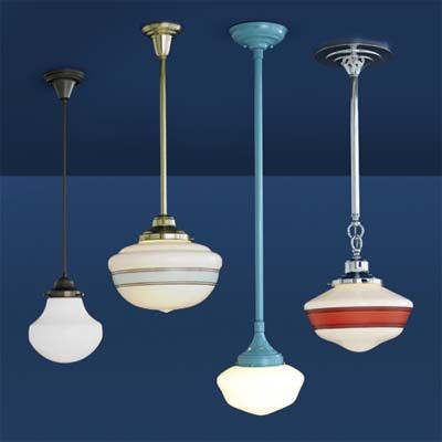 Schoolhouse Lights Retro Lighting Vintage Pendant Lighting Kitchen Lighting