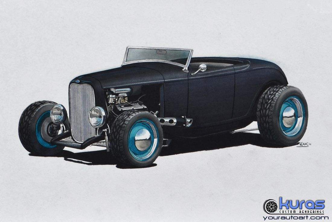 Hot Rod Art, Car Drawing Art, and Custom Vehicle Illustration ...