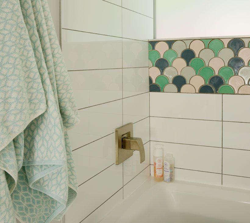 Palm Desert Bathroom Plume Shaped Tile