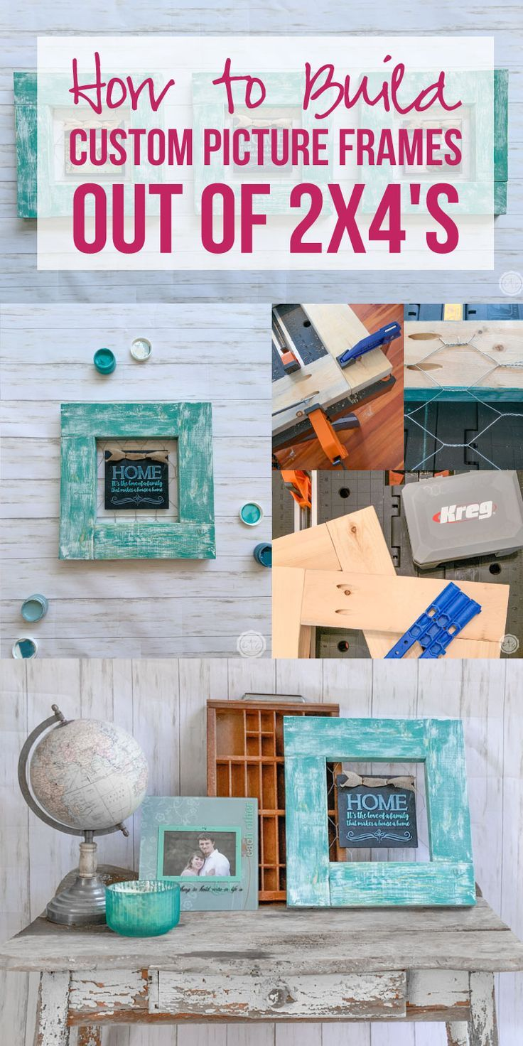 How to build custom picture frames out of 2x4s custom