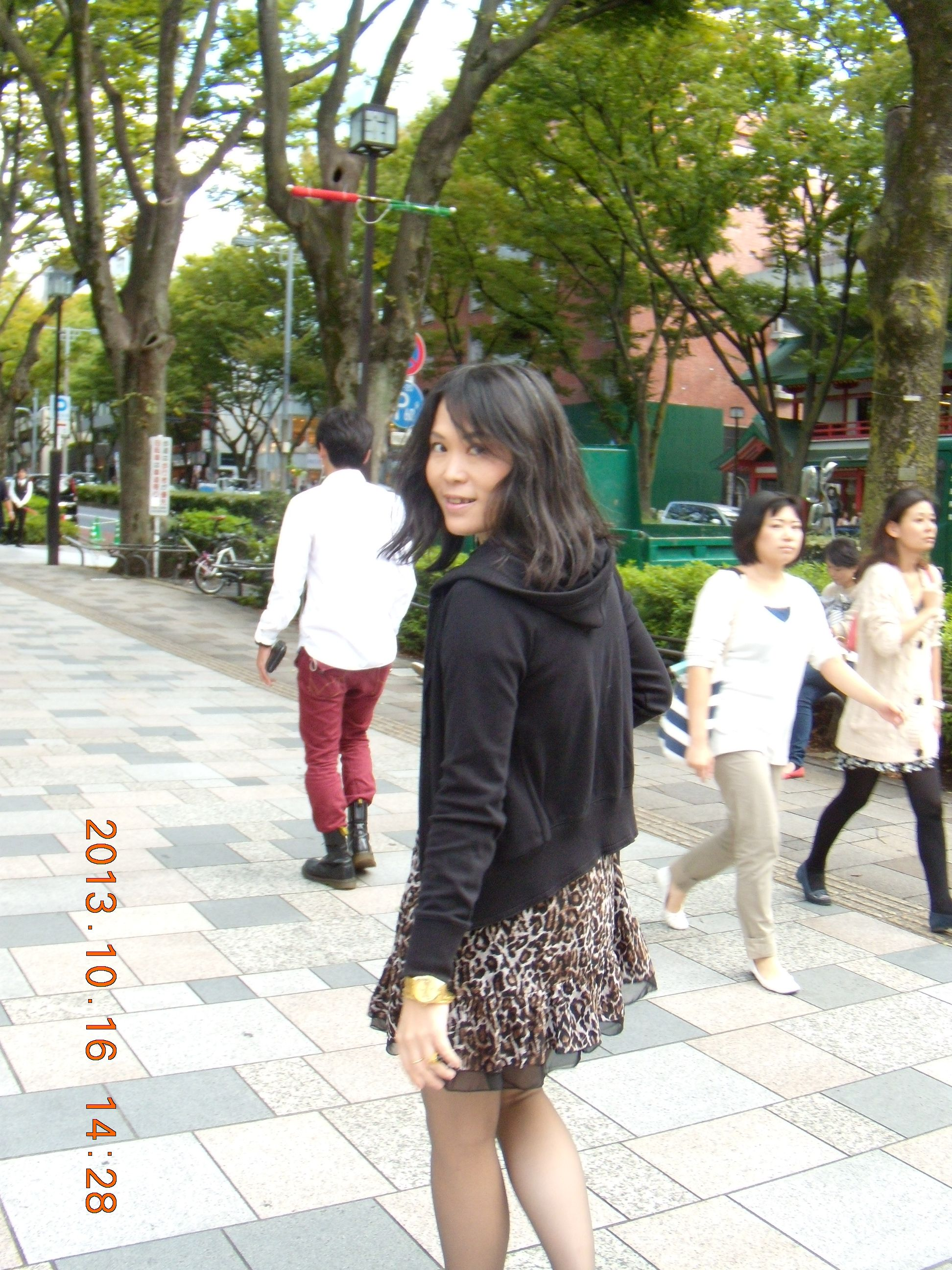 leopard dress at Omotesando
