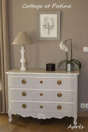 Commode Arbalete Relookee Avant Apres Cottage Et Patine Le Blog Mobilier De Salon Decoration Interieure Couleur Mur Salon