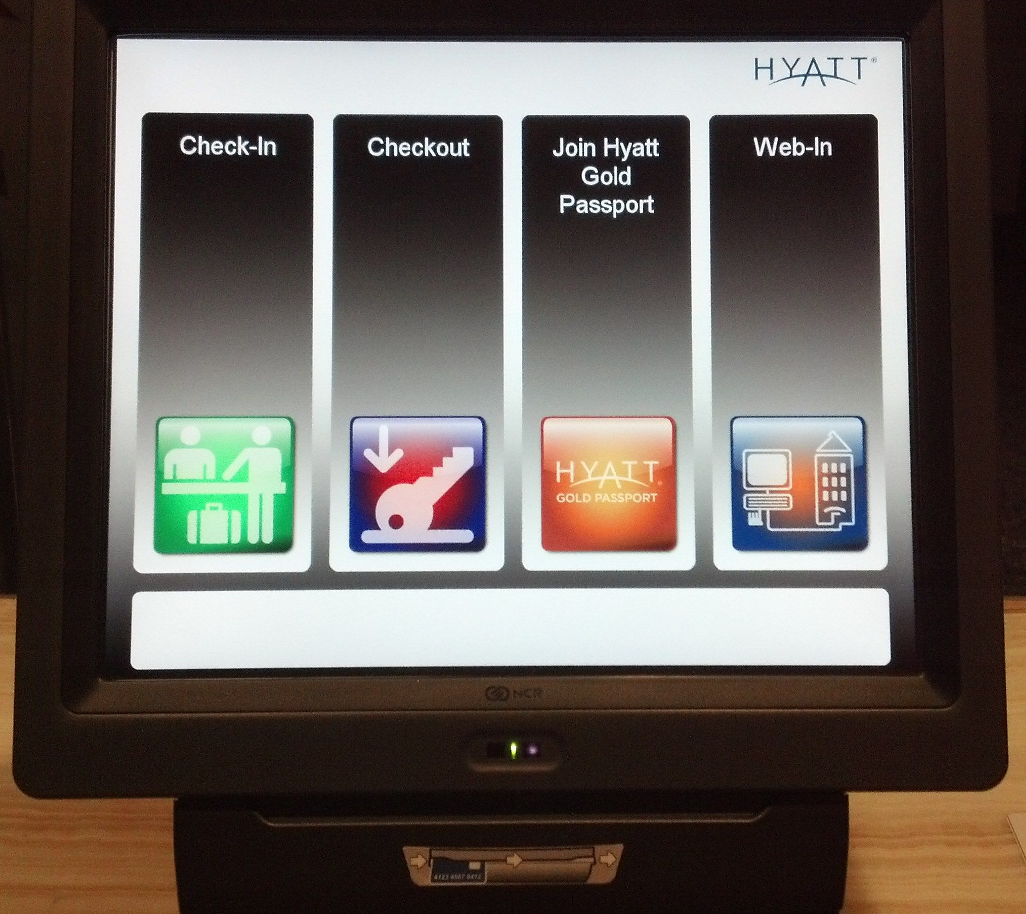 Interesting self-service kiosk in the Hyatt Regency in ...