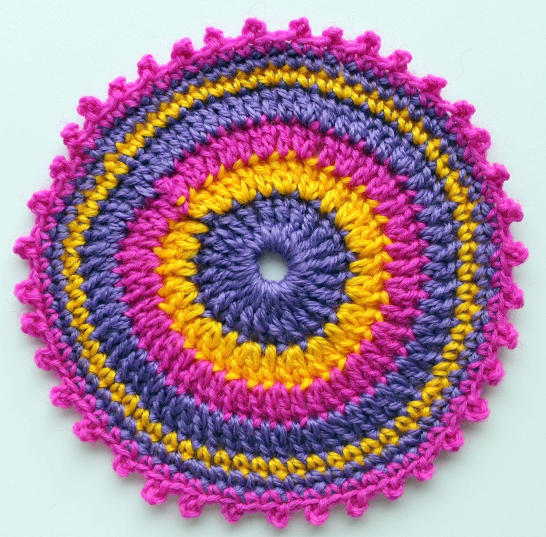 Easy crochet circle or mandala