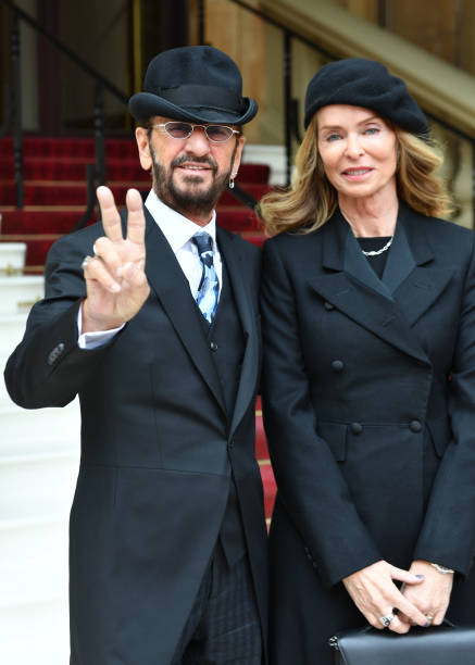 Ringo Starr, real name Richard Starkey, poses with his ...