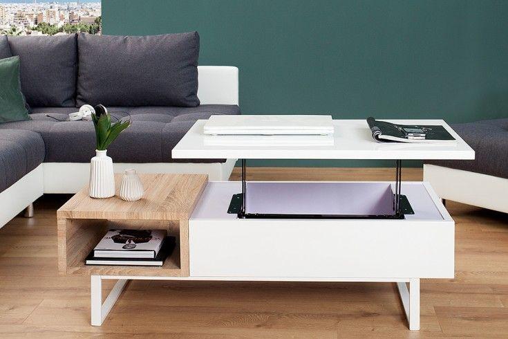 Fine Funktionaler Design Couchtisch Fabric Ii Hochglanz Sonoma