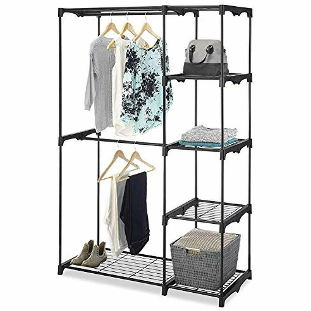 Whitmor Closet Systems Freestanding Portable Organizer Ndash Heavy Duty Black Closet Organizers Free Standing Closet Portable Closet Shoe Rack For Home
