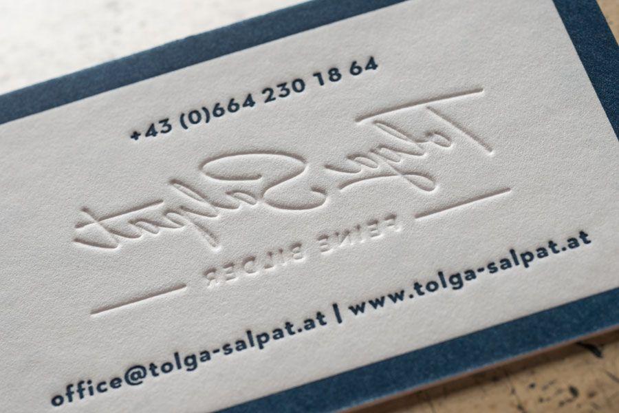 Visitenkarten Auf Cotton Linen Cream Von Papierfabrik Gmund