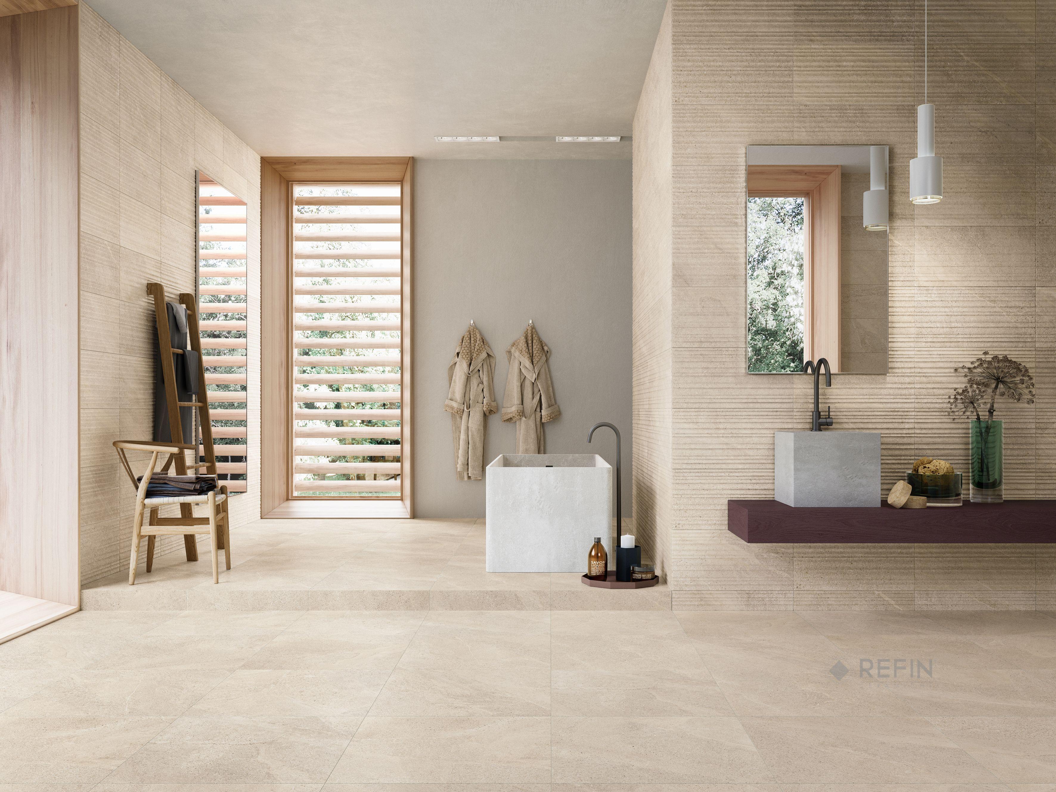 Stone Effect Tiles Tune Collection Bagni Moderni Design Moderno