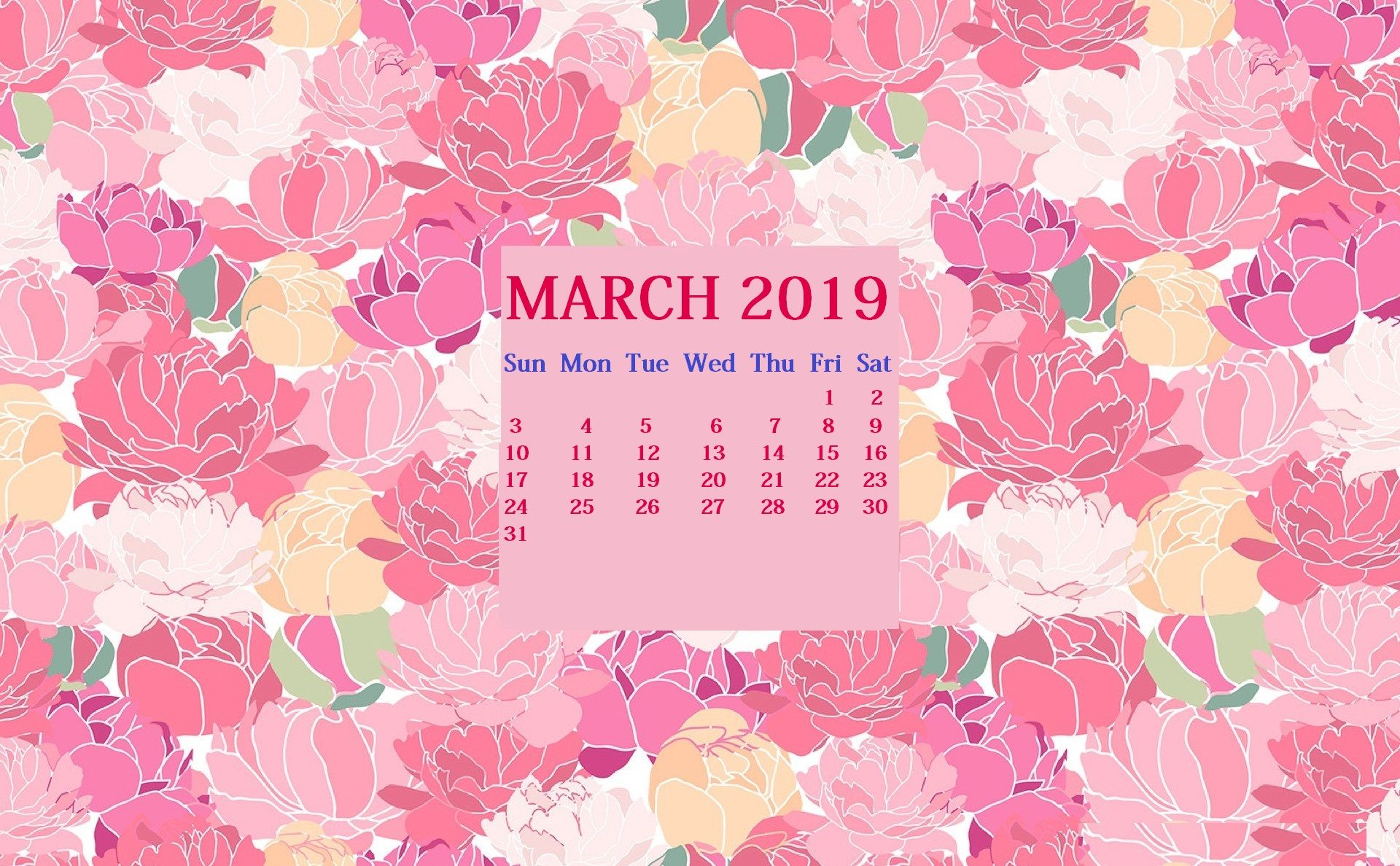 Monthly 2019 Hd Calendar Wallpaper Calendar Wallpaper Calendar Design Wallpaper