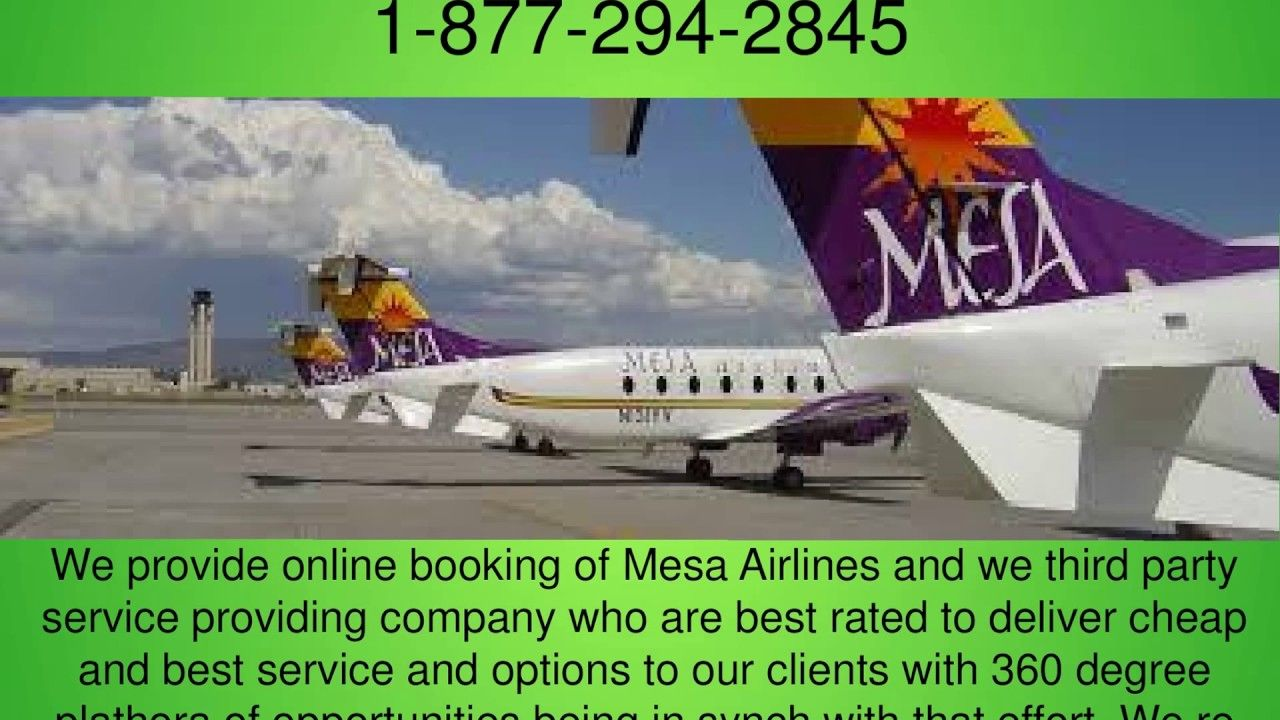 Mesa Airlines Booking Phone Number (18772942845