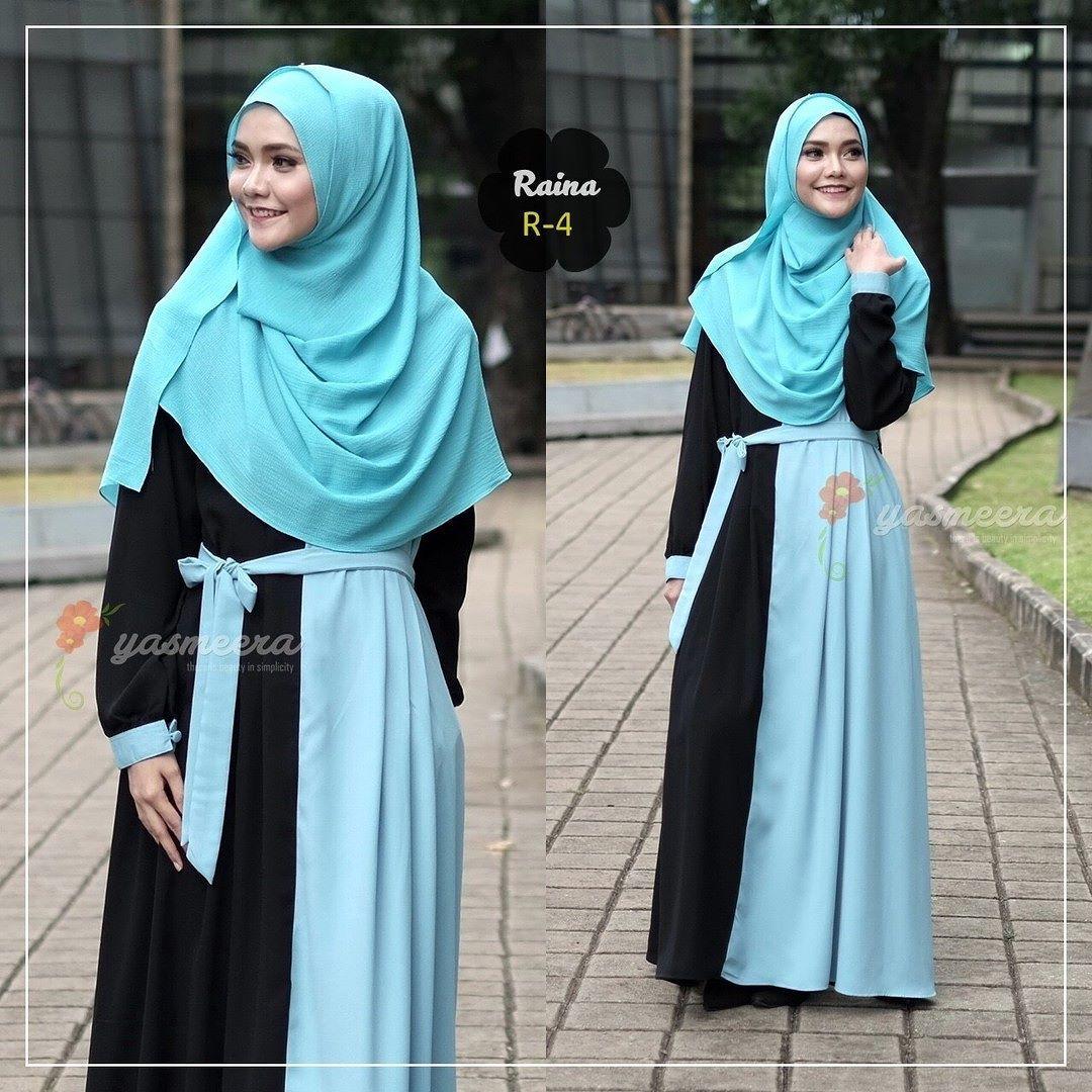 Gamis Yasmeera Raina Dress R4 Baju Gamis Wanita Busana Muslim