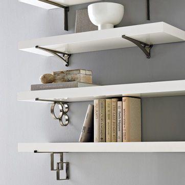 West Elm Floating Shelves west elm bracket shelves | shelves, wall mounted shelves and