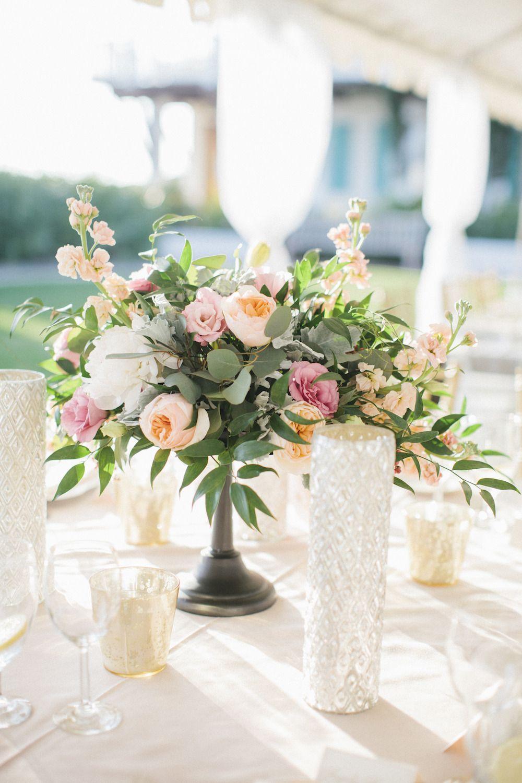 Blush + Gold Rosemary Beach Wedding Wedding centerpieces