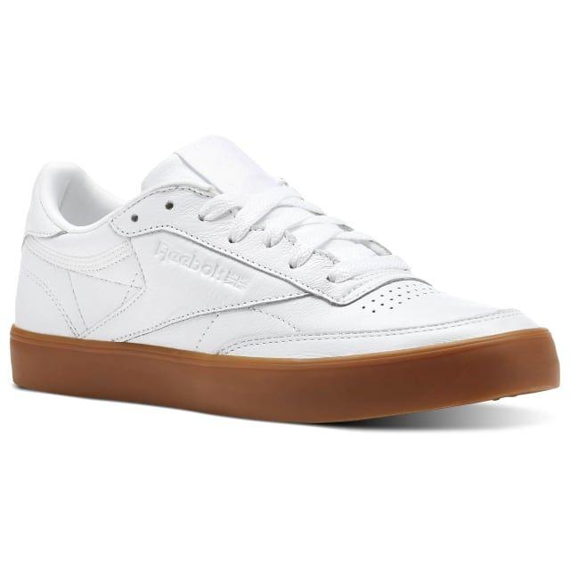 Alargar Tamano relativo emparedado  Club C 85 FVS White / Gum CN2188   Reebok shoes women, White reebok, Reebok  club c