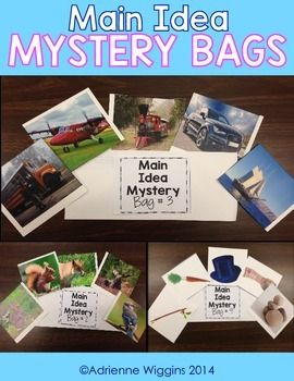 I Created This Set Of 10 Main Idea Mystery Bags Or Envelopes To Use As A Way Ease My 3rd Graders Into Finding The Text