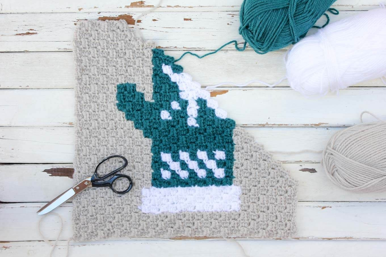 Mitten C2C Crochet Afghan Graph - Free Pattern | C to c crochet ...