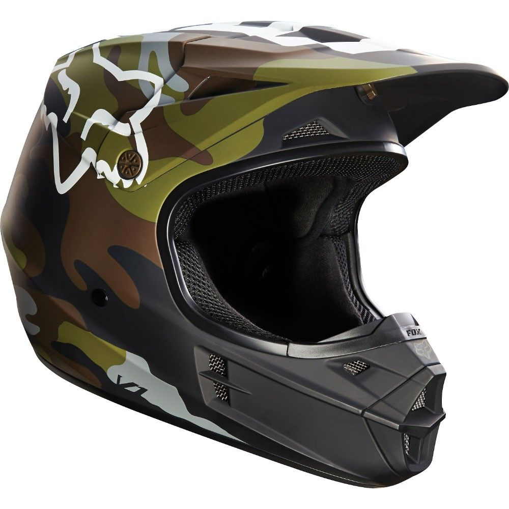Fox Racing V1 Camo Helmet Dirt Bike Helmets Dirt Bike Girl Bike Helmet