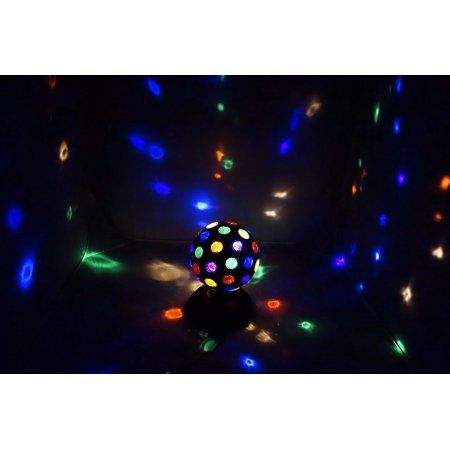 Lightahead® 6 Inch 360 Degree Rotating LED Disco Ball Light (Black)