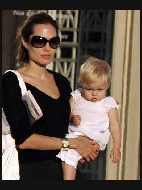 11. August 2007 Angelina Jolie und ihre Tochter Sh...