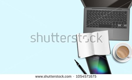 Work Desk Background Vector Place For Text Office Management