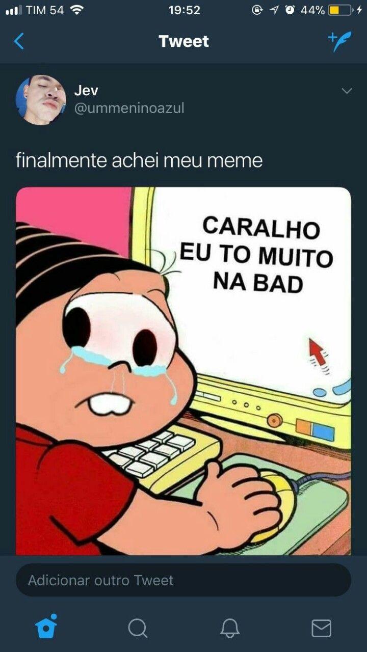 Pin De Leticia Em Azul Meme Da Monica