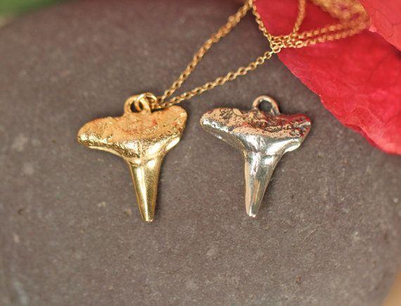 Shark tooth necklace // gold shark tooth necklace by Goldcharmbar