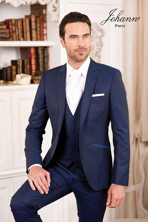 johann costume mariage bleu roi avec gilet em 2019. Black Bedroom Furniture Sets. Home Design Ideas