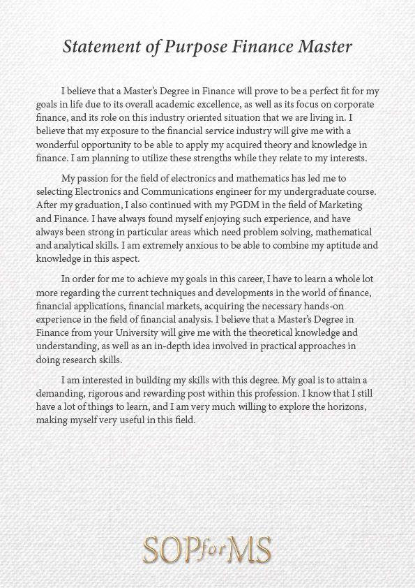 resume motivation statement