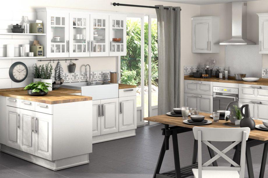 cuisine bistro - meuble et modèle de cuisine - lapeyre | idées ... - Meuble Cuisine Bistrot