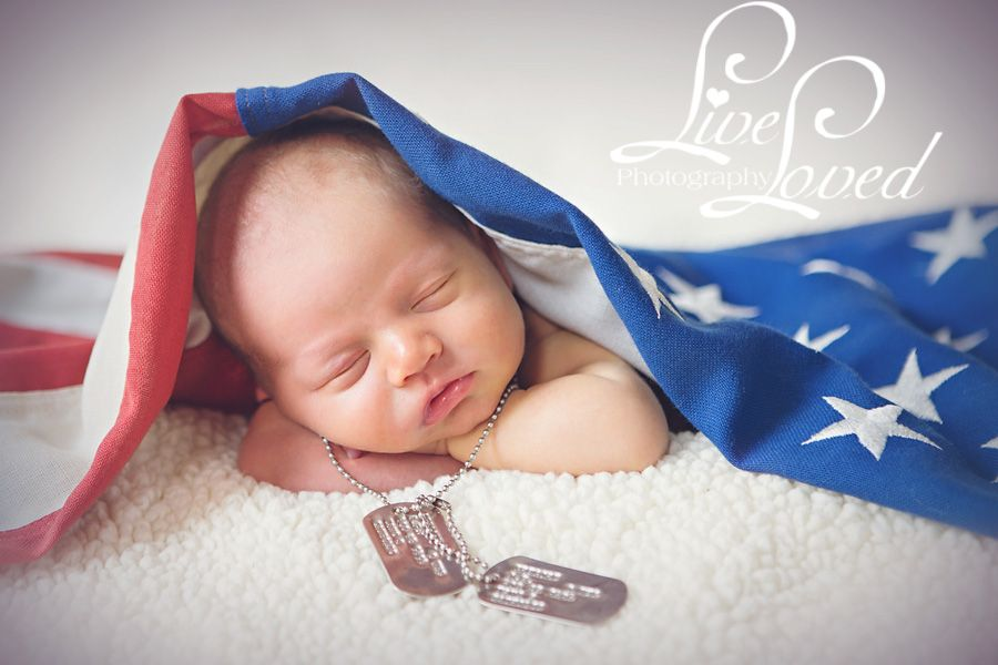 My husband is a Marine so we used his dog tags  Babies  Pinterest  Newborn Photography
