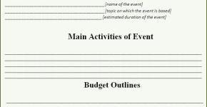 Event Proposal Template  Certificate Templates