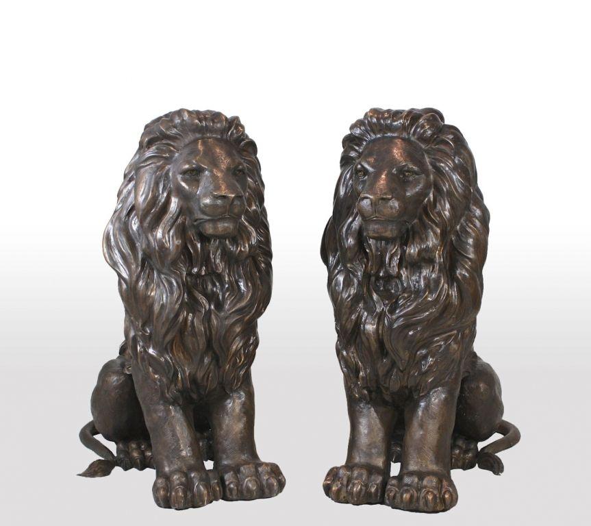 Bronze Lion Sculpture For Front Porch Bronze Statue Lion