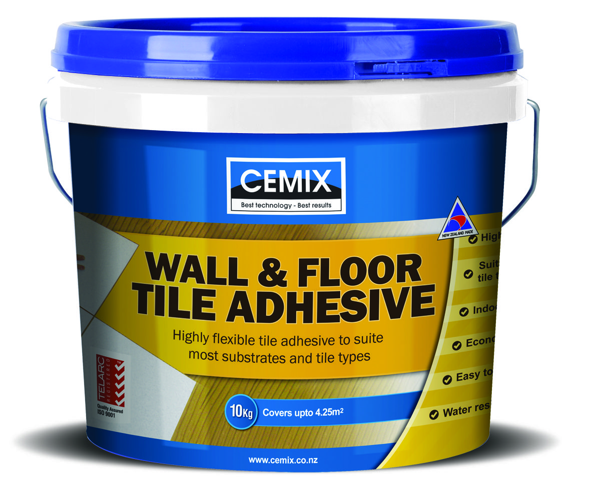 Cemix Wall And Floor Tile Adhesive Is A Highly Flexible, Polymer Modified,  Cement Based, White Adhesive For Interior And Exterior Fixing Of A Wide  Range Of ...