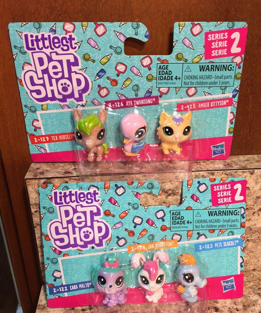 Littlest Pet Shop Series 2 2 Pk 3 Each 2 122 2 124 2 1232 127