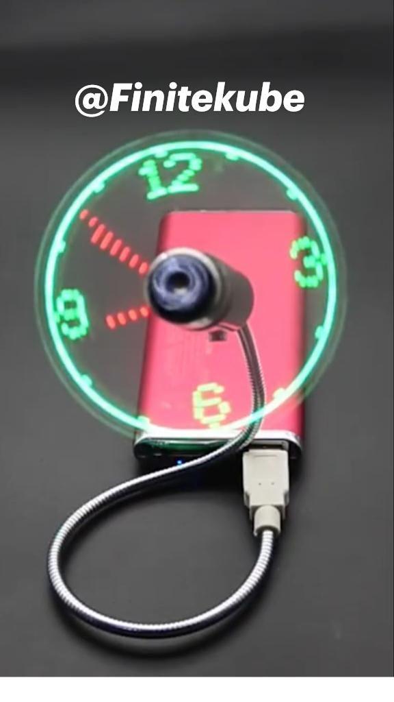 @Finitekube Digital Clock Fan