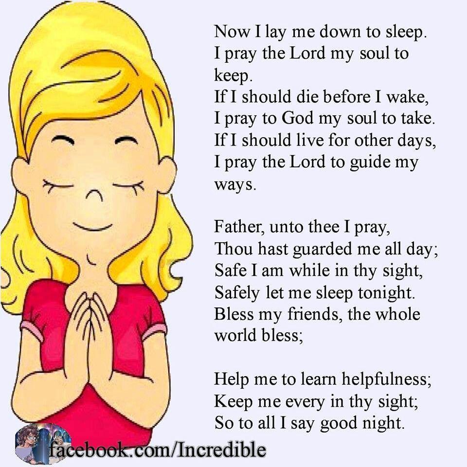 Now I lay me down to sleep.... | Prayers/Religious | Pinterest ...