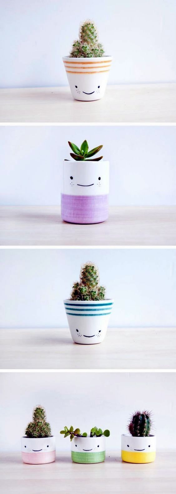 60 Pottery Painting Ideas to Try This Year is part of Succulents diy, Plants, Diy garden, Flower pots, Pottery painting, Succulents - As you can see, there are plenty of pottery painting ideas waiting for you out there once you decide to take it up  The simple and logical thing to do would