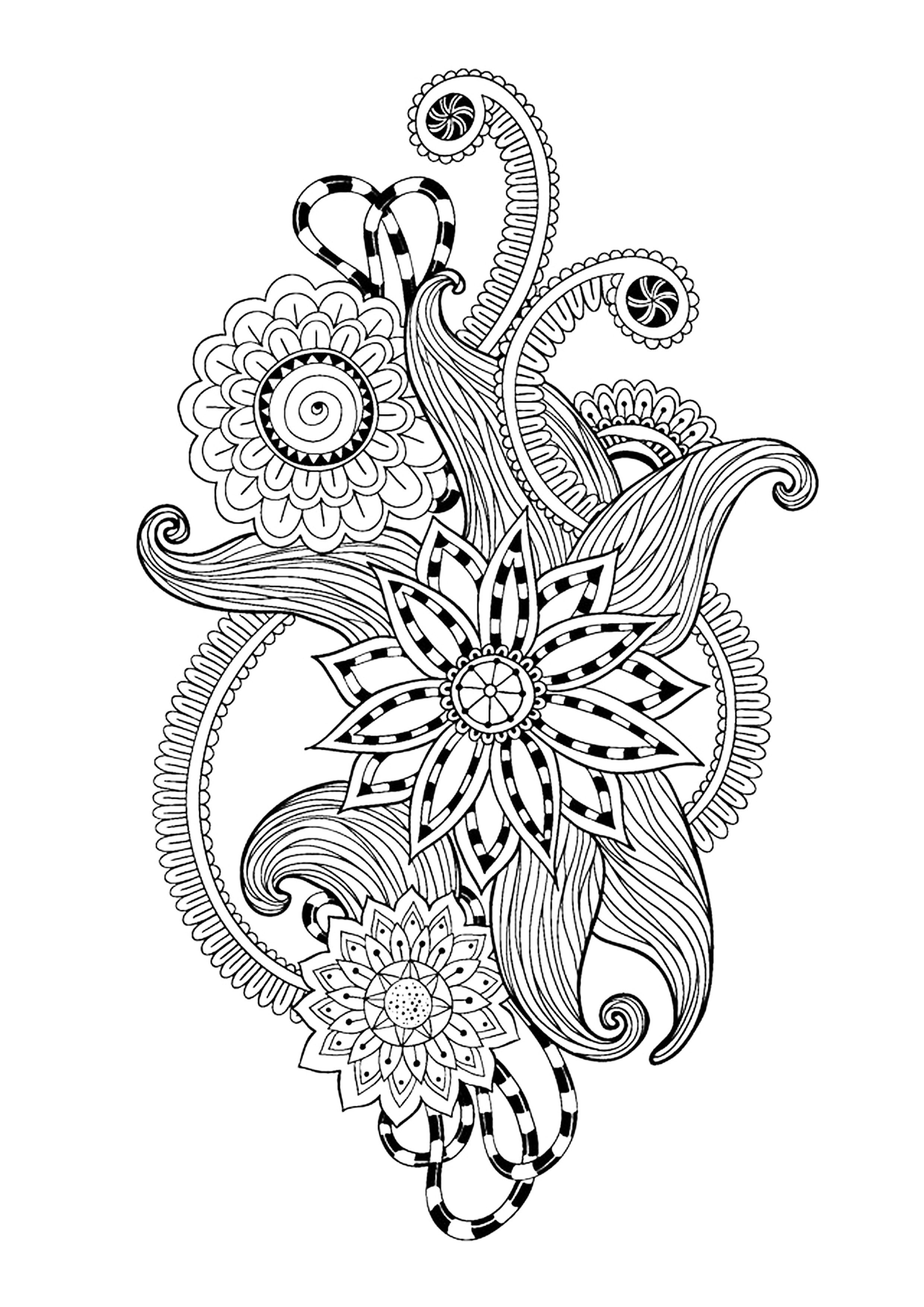 Free coloring page coloring-zen-antistress-abstract-pattern-inspired ...