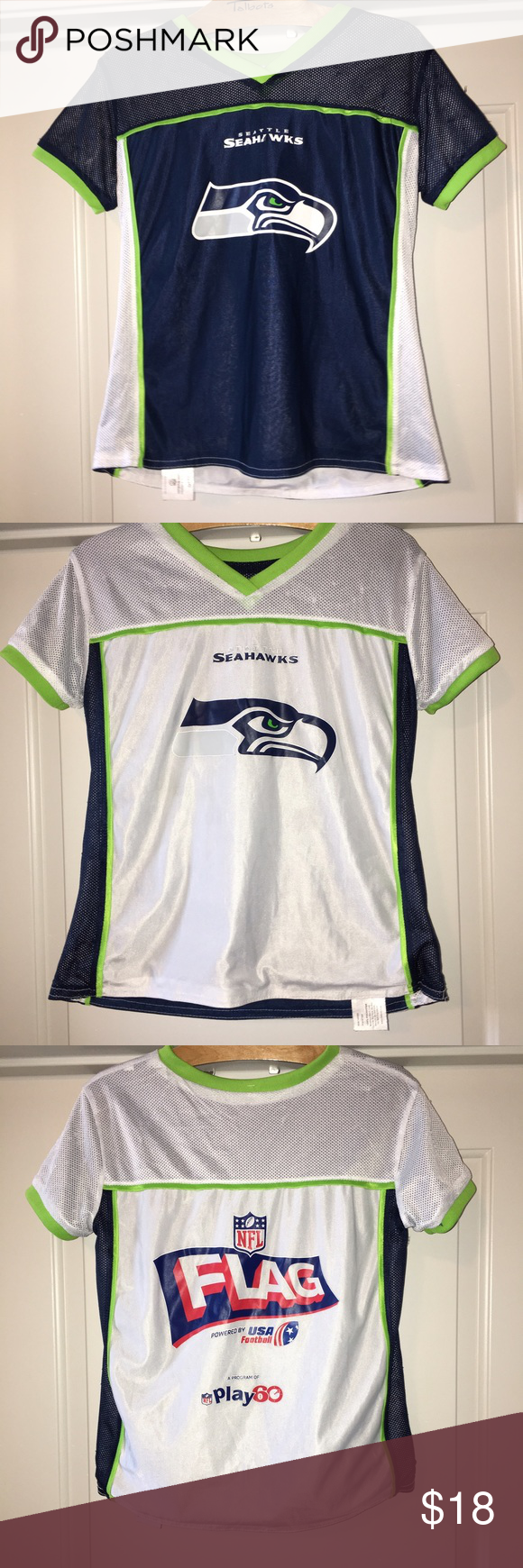 Youth Seattle Seahawks Reversible Flag Football Thank You For