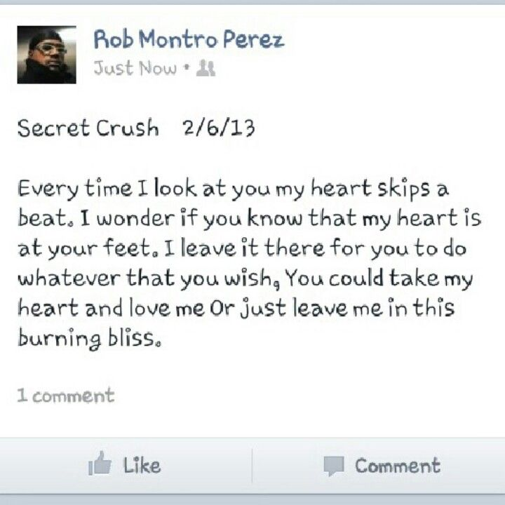 Poems secret crush 31 Crush
