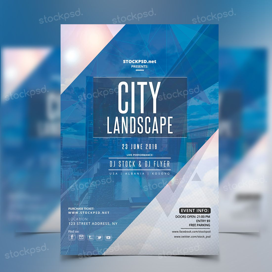 In Free Psd Mockup For Flyers  Posters  Free Psd Mockup