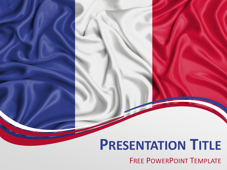 france flag powerpoint template