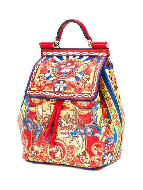 Dolce   Gabbana  Miss Sicily Carreto  backpack  8dafaf70ebc9c