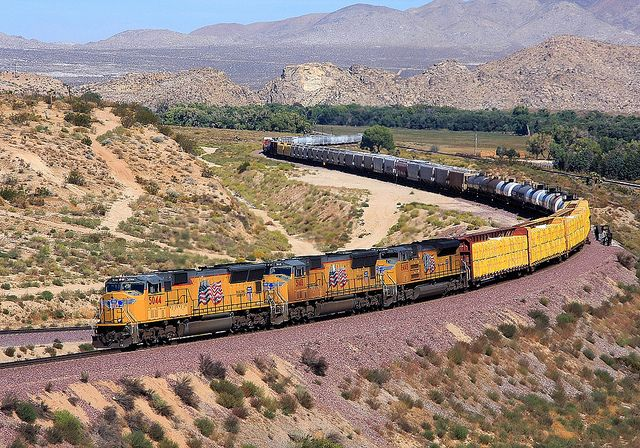 Nice Picture Of A Union Pacific Railroad Engines Http Www Flickr Com Photos Davetoussaint 5173665296 Union Pacific Train Train Union Pacific Railroad