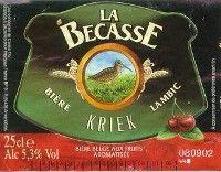 Label van La Becasse Kriek